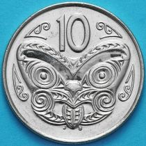 Новая Зеландия 10 центов 2003 год. Маска Маори.