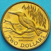 Новая Зеландия 2 доллара 1993 год. Священная альциона.