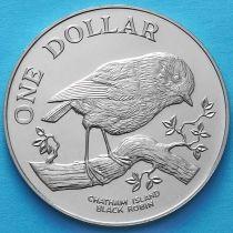 Новая Зеландия 1 Доллар 1984 год. Чатемская петроика (малиновка).