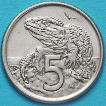 Новая Зеландия 5 центов 1967-1985 год.