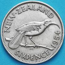 Новая Зеландия 6 пенсов 1954 год. Гуйя.