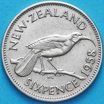 Новая Зеландия 6 пенсов 1958 год. Гуйя.