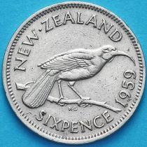 Новая Зеландия 6 пенсов 1959 год. Гуйя.