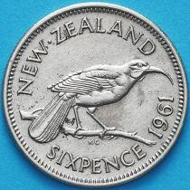 Новая Зеландия 6 пенсов 1961 год. Гуйя.