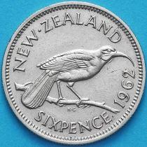 Новая Зеландия 6 пенсов 1962 год. Гуйя.