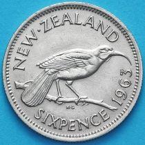 Новая Зеландия 6 пенсов 1963 год. Гуйя.