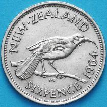 Новая Зеландия 6 пенсов 1964 год. Гуйя.