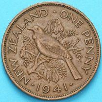 Новая Зеландия 1 пенни 1941 год. Новозеландский туи.