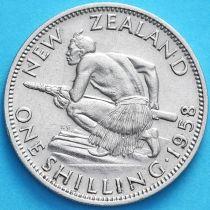 Новая Зеландия 1 шиллинг 1958 год.