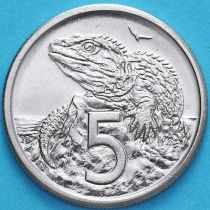Новая Зеландия 5 центов 1982 год. Гаттерия.