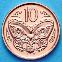 Новая Зеландия 10 центов 2007-2013 год. Маска Маори.
