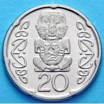 Новая Зеландия 20 центов 2006-2008 год. Божество Маори.