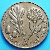 Новая Зеландия 1 Доллар 1981 год. Визит Елизаветы II.