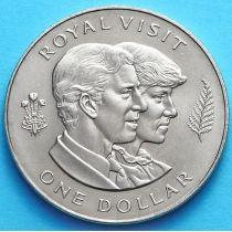 Новая Зеландия 1 Доллар 1983 г. Королевский визит