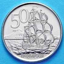 Новая Зеландия 50 центов 2006-2009 год. Парусник.