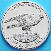Новая Зеландия 5 долларов 2006 г. Новозеландский сокол.