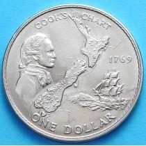 Новая Зеландия 1 Доллар 1969 г. Джеймс Кук