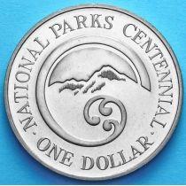 Новая Зеландия 1 Доллар 1987 год. 100 лет национальным паркам.