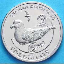 Новая Зеландия 5 долларов 2004 г. Чатамский тайко.