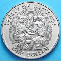 Новая Зеландия 1 Доллар 1990 год. 150 лет договору Вайтанги.