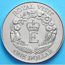 Новая Зеландия 1 Доллар 1986 год. Королевский визит.