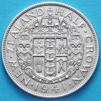 Новая Зеландия 1/2 кроны 1941 год. Серебро.