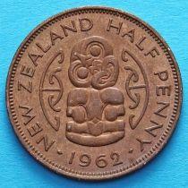 Новая Зеландия 1/2 пенни 1962-1965 год. Амулет Хей-Тики.