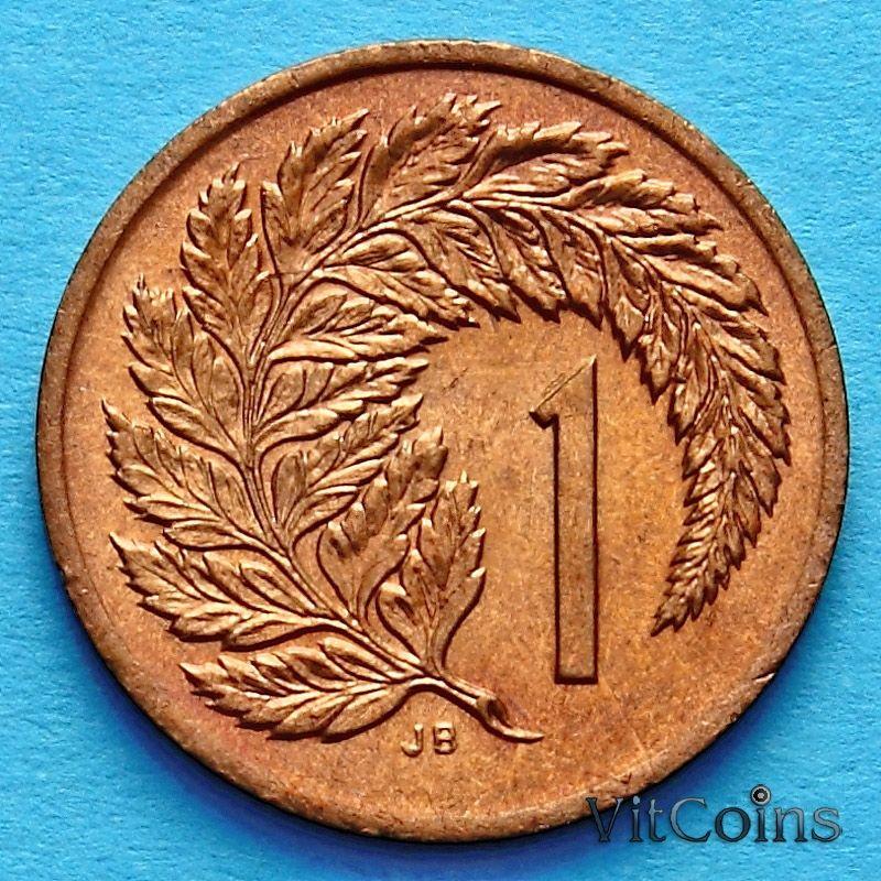Монета Новой Зеландии 1 цент 1988 год.