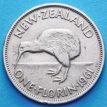 Новая Зеландия 1 флорин 1961-1965 год.