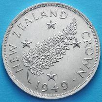 Новая Зеландия 1 крона 1949 год. Серебро.