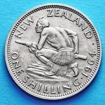 Новая Зеландия 1 шиллинг 1956-1965 год.