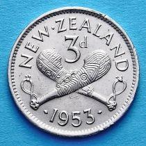 Новая Зеландия 3 пенса 1953-1956 год.