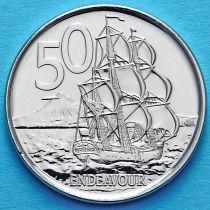 Новая Зеландия 50 центов 2015 год. Парусник.