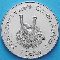 Новая Зеландия 1 Доллар 1989 год. Бегун.