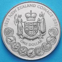 Новая Зеландия 1 доллар 1983 год. 50 лет чеканке монет.