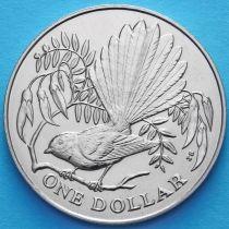 Новая Зеландия 1 доллар 1980 год. Веерохвостка.