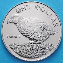 Новая Зеландия 1 Доллар 1982 год. Птица Такахе.