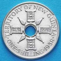 Британская Новая Гвинея 1 шиллинг 1938 год. Серебро.
