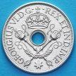Монета Британской Новой Гвинеи 1 шиллинг 1938 год. Серебро.