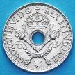 Монета Британской Новой Гвинеи 1 шиллинг 1945 год. Серебро.
