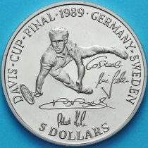 Ниуэ 5 долларов 1989 год. Кубок Дэвиса.