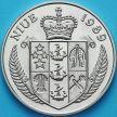 Монета Ниуэ 5 долларов 1989 год. Кубок Дэвиса.