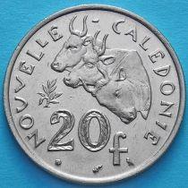 Новая Каледония 20 франков 1967 год.