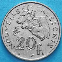 Новая Каледония 20 франков 1972 год.