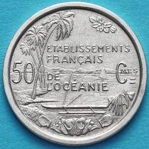 Французская Океания 50 сантим 1949 год.