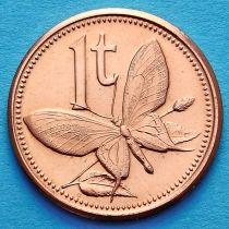 Папуа Новая Гвинея 1 тойя 2004 год.
