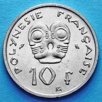 Французская Полинезия 10 франков 1967 год.
