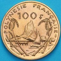 Французская Полинезия 100 франков 1986 год. Ландшафт гавани Муреа.