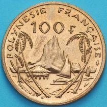 Французская Полинезия 100 франков 1988 год. Ландшафт гавани Муреа.