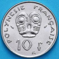 Французская Полинезия 10 франков 1985 год. UNC
